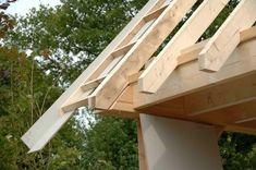 De grote verbouwing — 16 juli 2013, hoogste punt bereikt ! House Extensions, Industrial Table, Garages, Backyard Patio, Ideas Para, Shed, Woodworking, Cabin, Modern