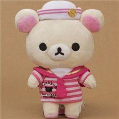 Rilakkuma plush toy white bear as sailor #kawaii