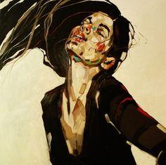 "Saatchi Online Artist Anna Bocek; Painting, ""element series- fire"" #art"