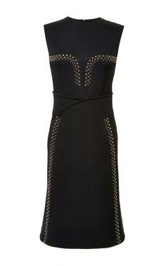 Sleeveless Satin Dress With Grommet Studs by Derek Lam for Preorder on Moda Operandi