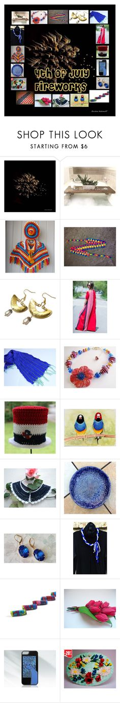 """4th of July Fireworks: Handmade & Vintage Gift Ideas"" by paulinemcewen on Polyvore featuring interior, interiors, interior design, home, home decor, interior decorating, Gordon Kadonoff, rustic, vintage and country"