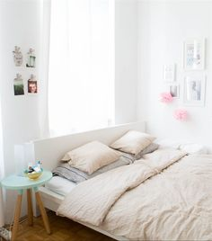 Madeleine's MALM bed   Love the pastel hints in this room   Living in Vienna   live from IKEA FAMILY