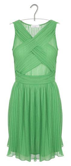 Robe sandro vert d'eau