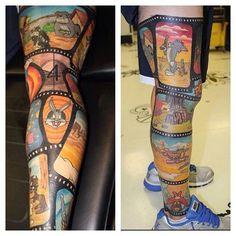 sleeve tattoo for women cartoons - Google Search