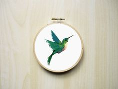 Colourful Hummingbird Animal Counted Cross by RhiannonsCrossStitch