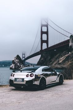 Nissan GT-R Chrome Phone Wallpaper #nissan #phonewallpaper #gtr