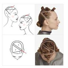 How to section hair for two tone coloring - wonder how this would look with reds! Hair Color Placement, Hair Foils, Curly Hair Styles, Natural Hair Styles, Aveda Color, Hair Color Techniques, Hair Color And Cut, Hair Designs, Diy Hairstyles