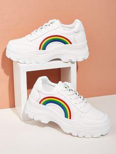 Moda Sneakers, Cute Sneakers, Chunky Sneakers, Girls Sneakers, Girls Shoes, Sneakers Fashion, Fashion Shoes, Shoes Sneakers, Chunky Shoes