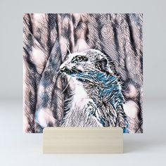 NewArt Animal B Meerkat Mini Art Print by jamcolorsspecial Office Style, Office Fashion, Cool Art, Fill, Gallery Wall, Desk, Display, Warm, Art Prints