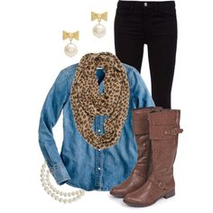 Leopard Scarf and Riding Boots :)