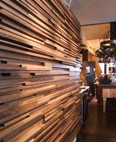 mosaico de madeira filete horizontal