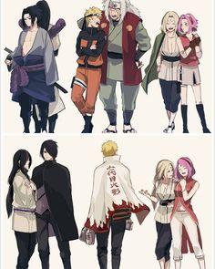 Sakura and Tsunade,Naruto and Jiriaya, Sasuke and Orochimaru