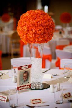 11 Orange Tissue Paper Balls (Wedding Centrepieces) Must See