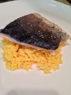 Salmon & yellow rice