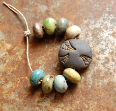 Gaea Ceramic Bead and Art Studio Blog Tribal bead set. gaea.cc