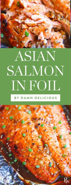 Get the recipe for this amazing asian salmon in foil by Damn Delicious, and more of the best clean eating recipes you can make in 30 minutes or less. #cleaneating #cleaneatingrecipes #healthyrecipes #healthyliving #eatclean #healthydinners