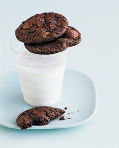Double Chocolate Chunk Cookies Recipe