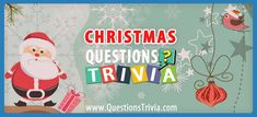 Christmas Trivia Questions and Quizzes - QuestionsTrivia Merry Christmas To You, Twelve Days Of Christmas, The Night Before Christmas, Christmas Carol, Christmas Fun, Christmas Trivia Quiz, Christmas Trivia Questions, Trivia Questions For Kids, Quizzes For Kids