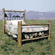 Roundup Bed by Frontier Ironworks at Rocky Mountain Decor.