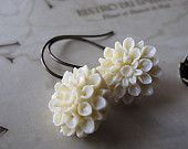 Chrysanthemum antique earrings