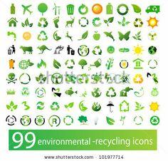 Vector set of environmental / recycling icons by Vertes Edmond Mihai, via Shutterstock