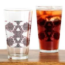 Marguerite's Floral in BW&R Drinking Glass