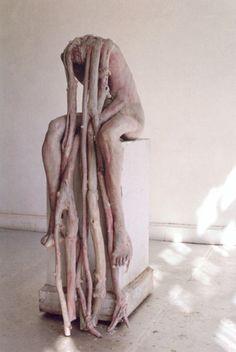 Marthe by Berlinde De Bruyckere Abstract Sculpture, Sculpture Art, Cool Monsters, A Level Art, Creature Concept, Dark Fantasy Art, Marker Art, Horror Art, Creature Design