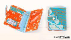 Beautiful Batik-genuine leather wallet from Sweet Batik #Batik #Indonesia #Handmade #Women_Accessories #Wallets