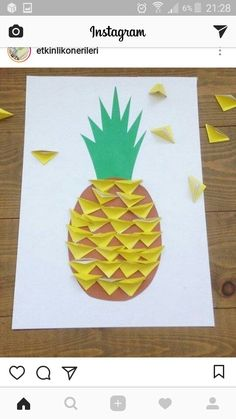 Cut out triangle collage pineapple