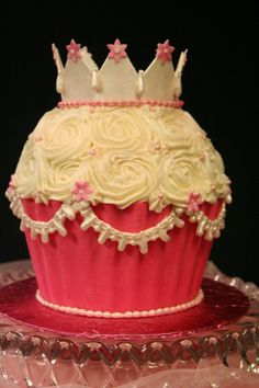 Giant Princess Cupcake by bakingkat on Cake Central
