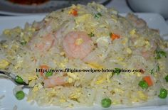 Shrimp Fried Rice! - Visit our Website for Many FREE Filipino Recipes! http://www.filipino-recipes-lutong-pinoy.com