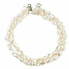 "Meg Carter Designs Mother of Pearl, Freshwater Pearl, and Trocus Shell ""Lexington Double"" Necklace - http://fashion.designerjewelrygalleria.com/necklaces-2/pearl-necklaces/meg-carter-designs-mother-of-pearl-freshwater-pearl-and-trocus-shell-lexington-double-necklace/"