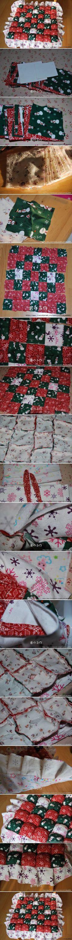 DIY Patchwork Pillow DIY Projects