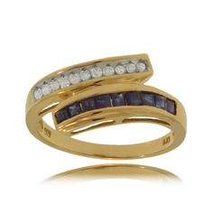 Bypass Ring w/ Sapphires & Diamonds in 14K Yellow Gold GemAffair, http://www.amazon.com/dp/B004P3004O/ref=cm_sw_r_pi_dp_DmZ.qb1QBJMT4