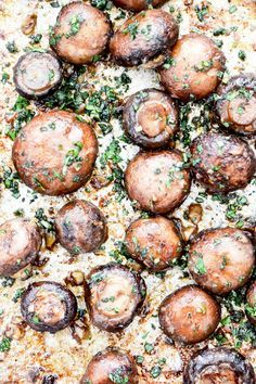 Miso-Roasted Mushrooms with Fresh Herbs | http://www.floatingkitchen.net