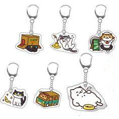 [Neko Atsume] 7 Patterns Neko Cat Phone Pendant/ Key Chain SP165086