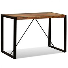 Ebay Sales Home Garden Discounts Solid Wooden Dining Table Bar Stand Modern St Reclaimed Wood Dining Table Industrial Wood Dining Table Wooden Dining Tables