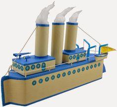 Παίζουμε μαζί: Πώς φτιάξετε βήμα-βήμα ένα καράβι με άδειες συσκευασίες από γάλα.