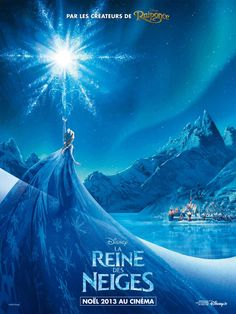 "Frozen (US, 2013 / French title: La Reine des neiges) Based on Hans Christian Anderson's fairy tail ""The Snow Queen,"" this charming, animated Walt Disney musical is a lovely family Christmas movie. Watch and read all the way to the very very end. Jennifer Lee, Idina Menzel, Frozen Poster, Film Disney, Disney Art, Disney Pixar, Disney Magic, Disney Characters, Princesa Elsa Frozen"