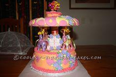 my little pony birthday ideas girls | My Little Pony Merry-Go-Round Cake