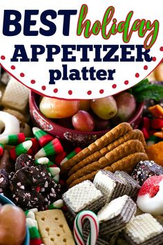Put together a fun and festive Christmas Snack Platter for your holiday party. This easy party tray is filled with sweet and savory snacks that are perfect for kids of all ages! #christmasrecipes #holidayrecipes #cheeseboard Holiday Appetizers, Holiday Parties, Holiday Recipes, Holiday Ideas, Party Trays, Party Platters, New Years Eve Snacks, Christmas Snacks, Christmas Eve