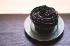 Dark Chocolate Earl Grey Cupcakes from Arts and Tarts