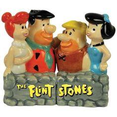 Flintstones salt/pepper shakers $22.00 www.jazzejunque.com