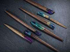 Resin wood hair stick