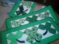 St Patrick's Shamrock Table Runner by alexandranowicki on Etsy, $15.00