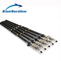 buy bluesardine new telescopic fishing rod carbon spinning rod surf casting rod fishing tackle 3 4 5 Surf Fishing Rods, Surf Rods, Fishing Tackle, Telescopic Fishing Rod, Spinning, Casting Rod, Survival Equipment, Telescope, Surfing