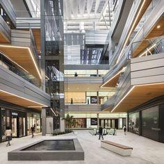 brickell city centre: the arquitectonica-designed mixed-use mega complex in miami Shopping Mall Interior, Retail Interior, Interior Shop, Shopping Malls, Interior Paint, Interior Design, Accor Hotel, Open Air Restaurant, Atrium Design