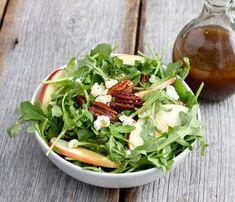 Meatless Monday: Arugula Salad with Maple Balsamic Vinaigrette
