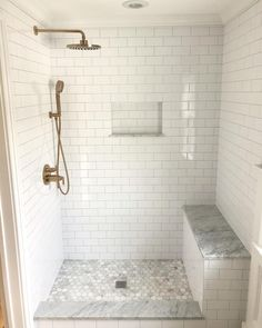 Amazing Bathroom Design Ideas Here Are 7 Key Guides To Getting A Walkin Shower 13 At some point everybody has a walkin bathtub inside their residence. Such a shower is handy and conserves space inside the restroom – . Some walkin sh… Master Bathroom Shower, Diy Bathroom, Bathroom Interior, Bathroom Ideas, Shower Niche, Bathroom Beadboard, Bathroom Updates, Bathroom Signs, Bathroom Shelves