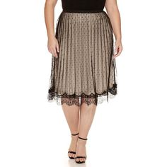 Worthington Knit Pleated Skirt ($32) ❤ liked on Polyvore featuring plus size women's fashion, plus size clothing, plus size skirts, plus size, plus size pleated skirt, pleated skirt, knit skirt, brown pleated skirt and brown skirt
